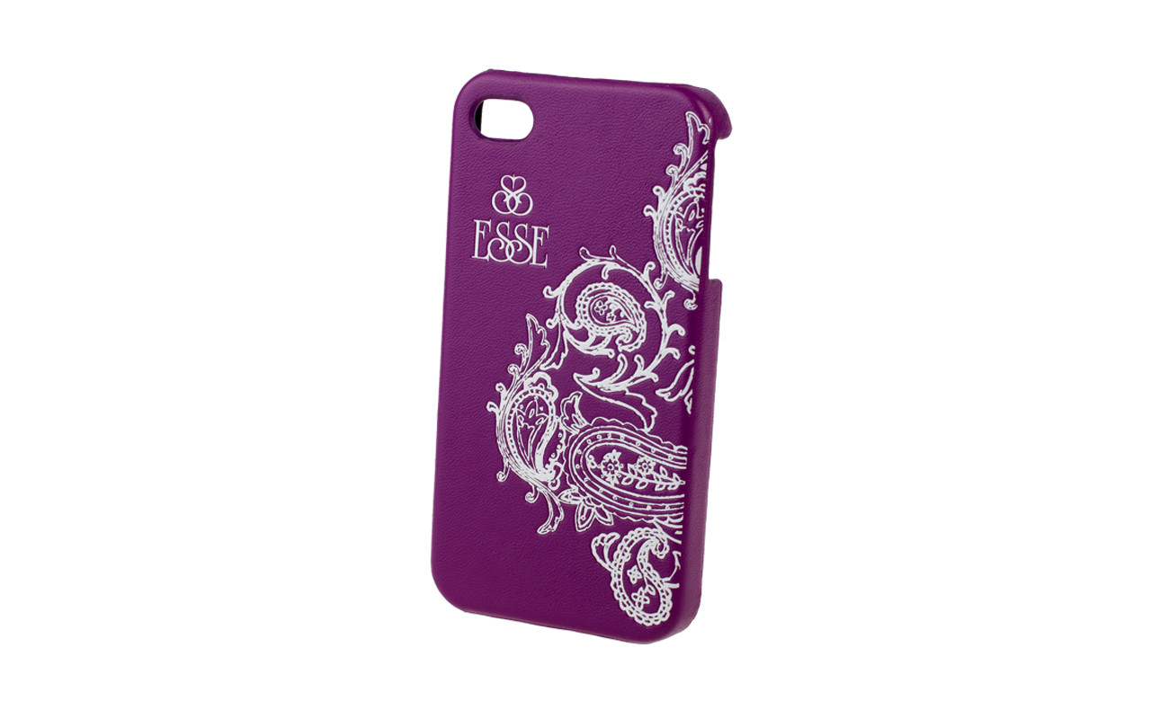 Клипкейс EMBO ПЕРСИЯ Apple iPhone4 и/кожа purple