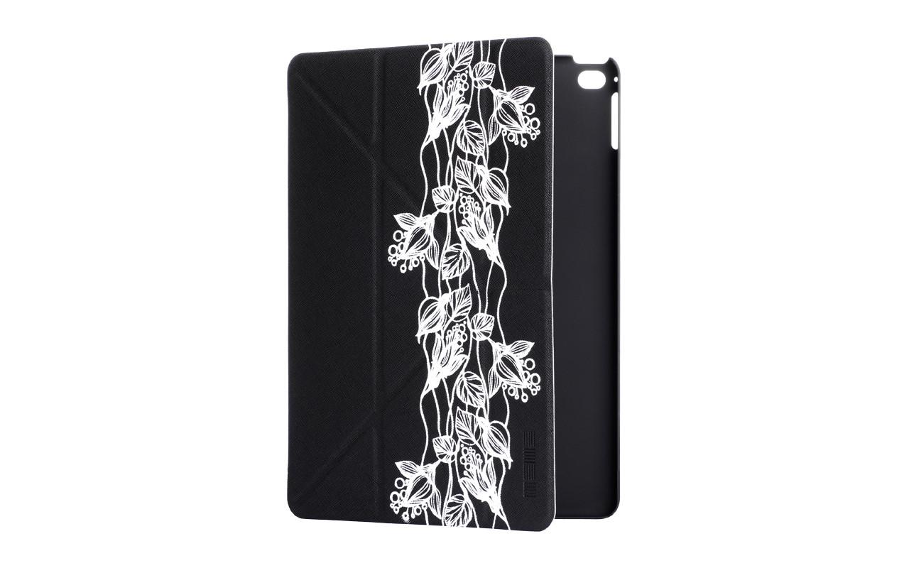 Чехол Для Планшета - Apple iPad 6 Air 2, interstep SMART ST ЛИЛИИ черный