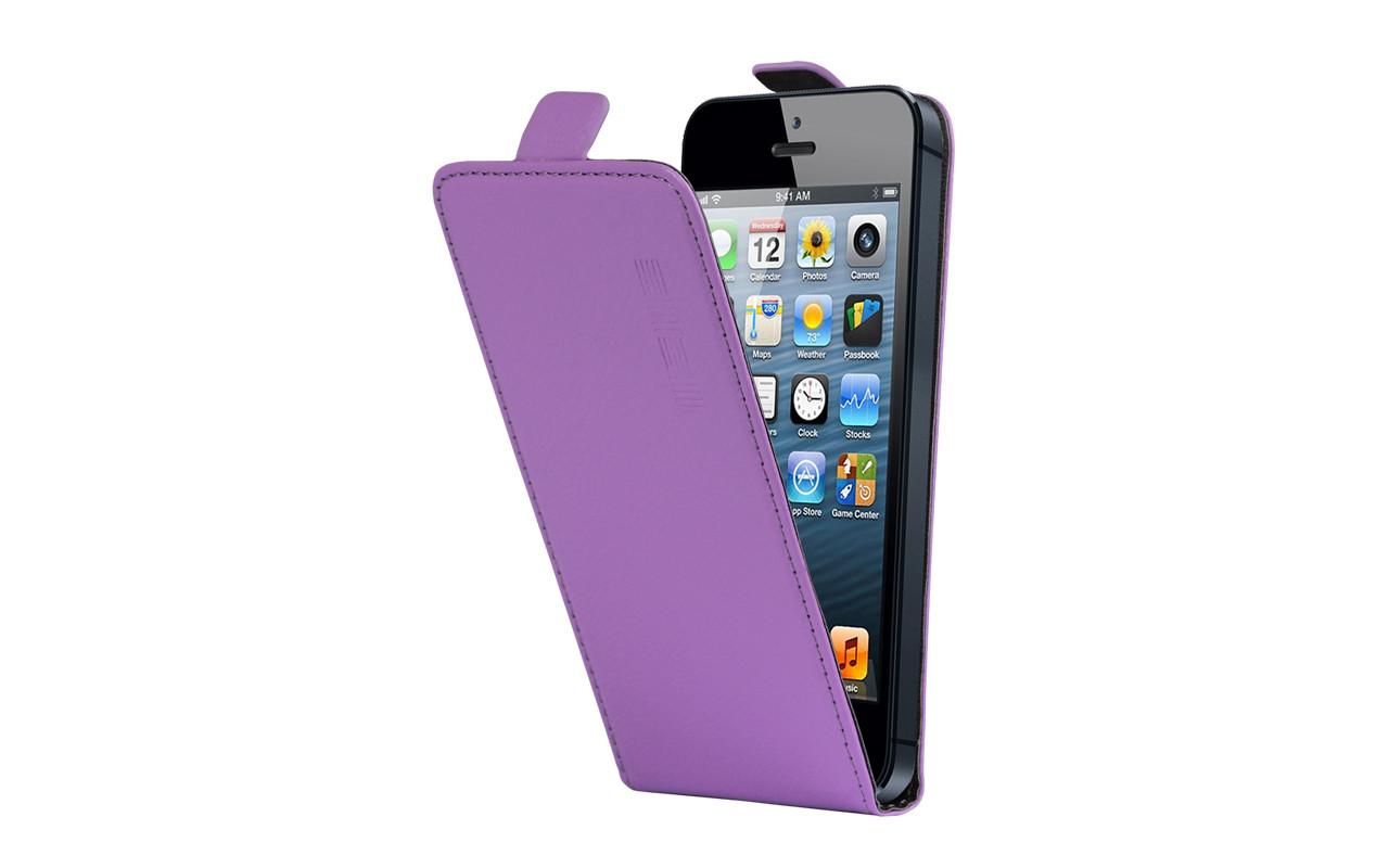 Универсальный Чехол Флип Кейс, Для Смартфона с Экраном от 4,7 до 5 дюймов Фиолетовый, InterStep NEXT