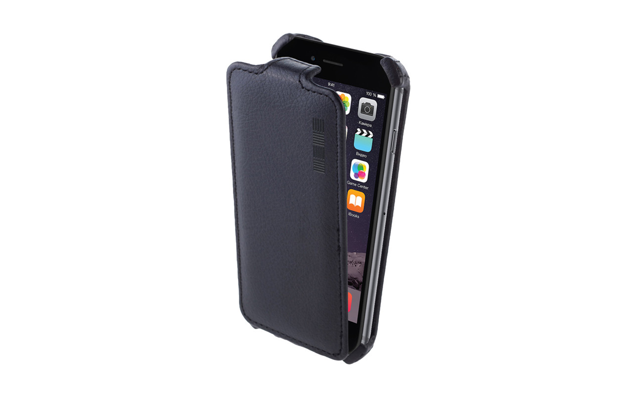 Чехол Флип Кейс Для Nokia X, Черный, Кожаный, InterStep CRAB