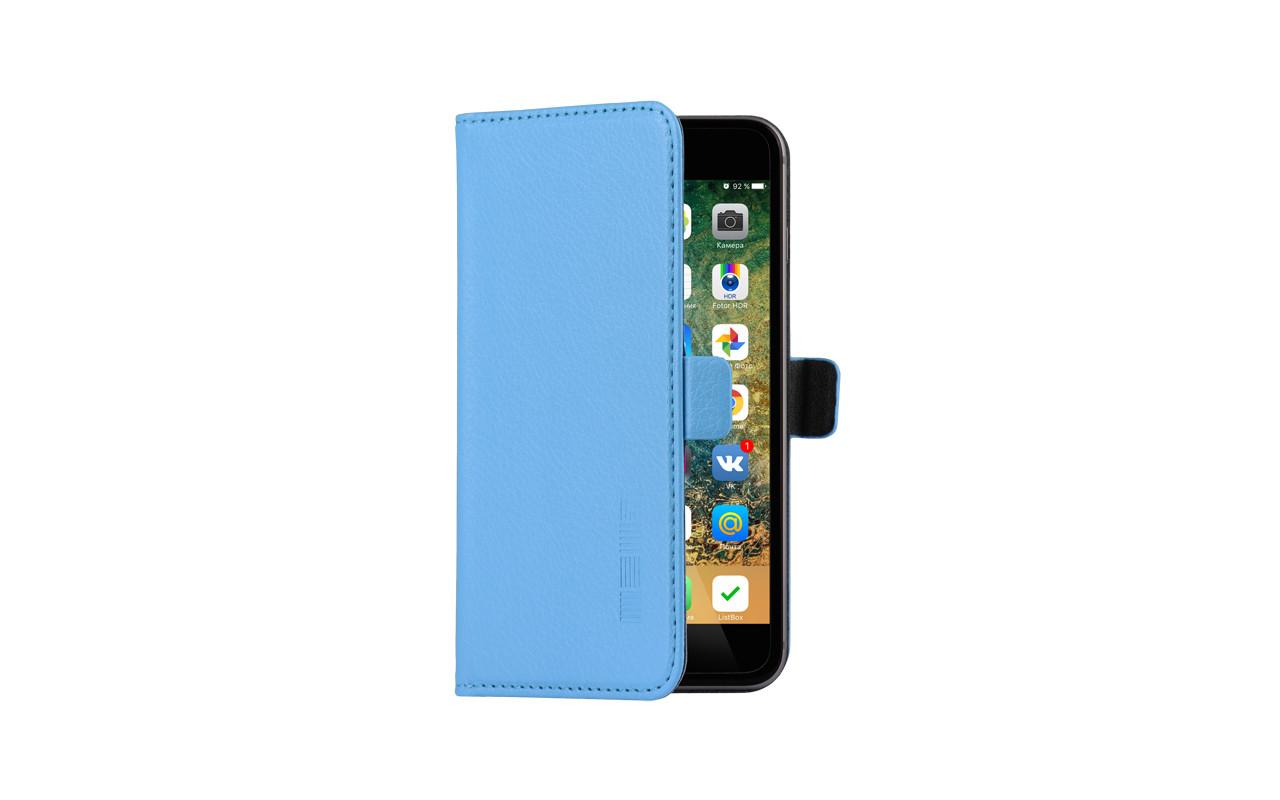 Универсальный Чехол Книжка Для Смартфона с Экраном от 5 до 5,2 дюймов Голубой, InterStep NEXT