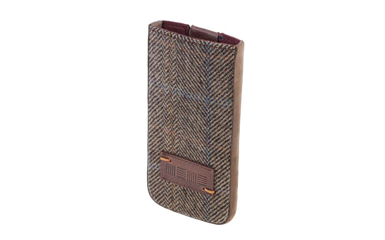 Чехол Карман Для телефона, Кожа - Нубук, темно-коричневый, InterStep DERBY Р-85