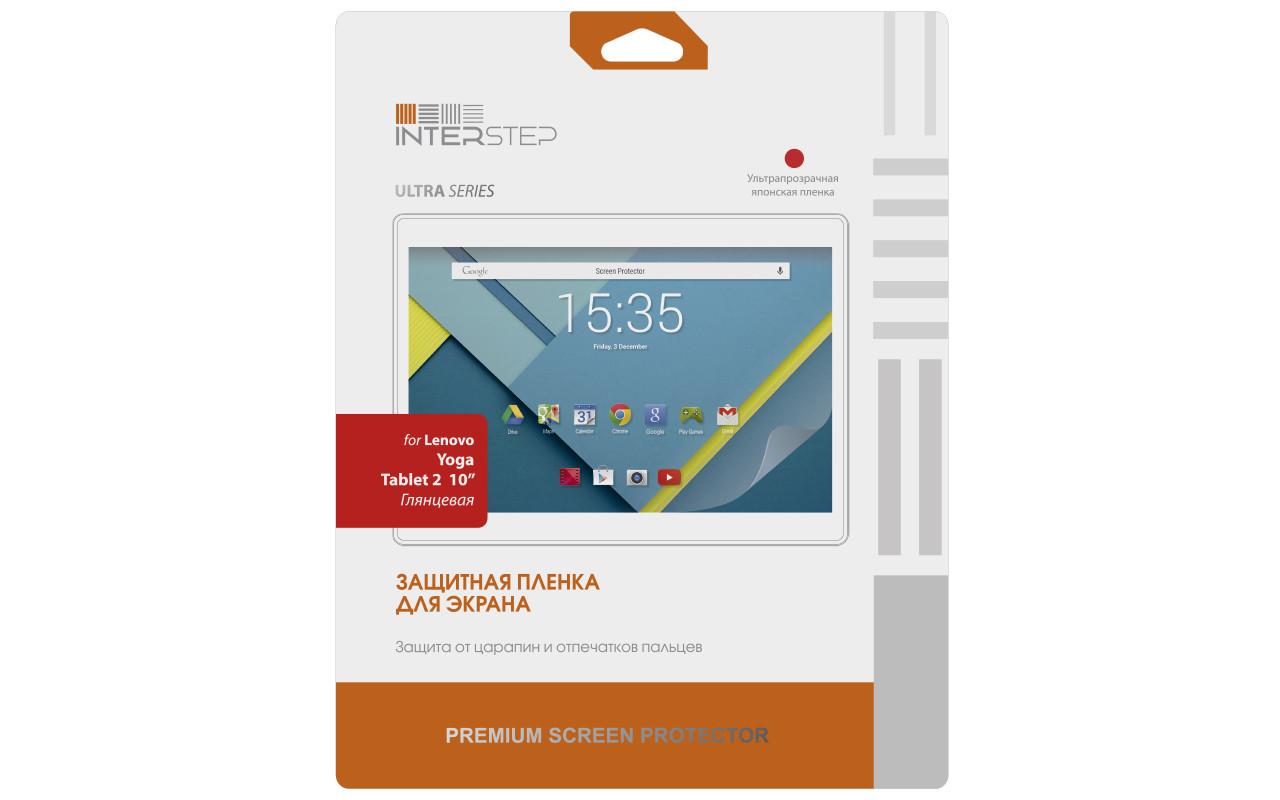 """Защитная Пленка Interstep Серии Ultra Для Lenovo Yoga Tablet 2 10"""" (Ультрапрозрачная) InterStep"""