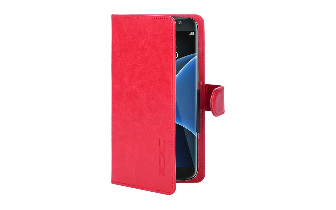 """Универсальный чехол-книжка для телефона 5,1"""" - 5,5"""" - цвет красный"""