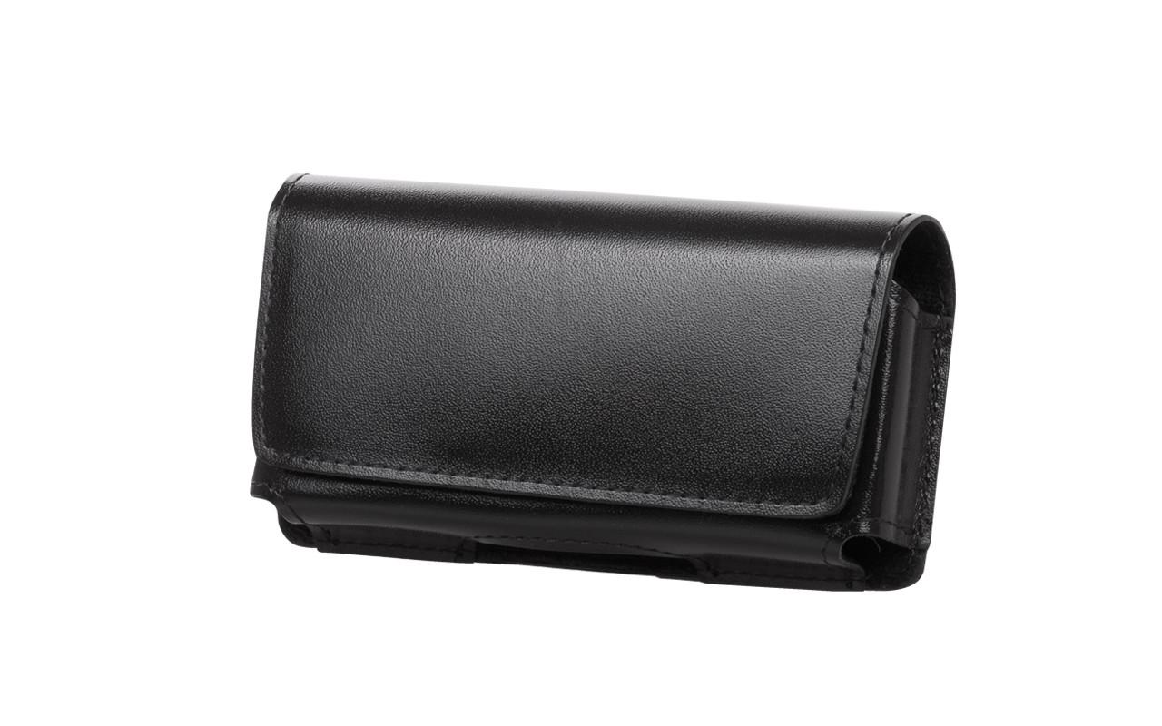 Чехол сумка Для телефона, Кожаный, Черный, InterStep ФОРТ Р-90