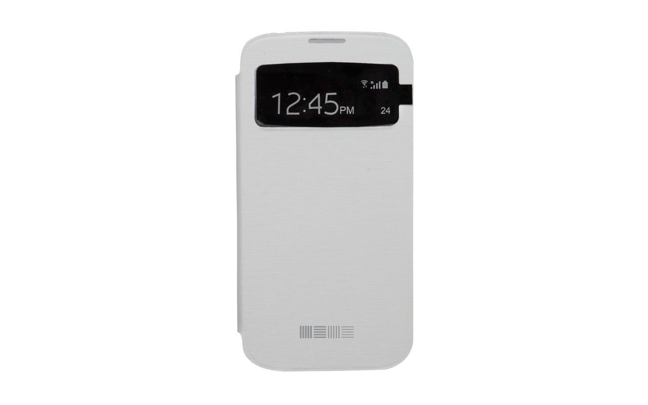 Чехол Книжка Для Samsung Galaxy S5 mini, Пластиковый, Белый, InterStep