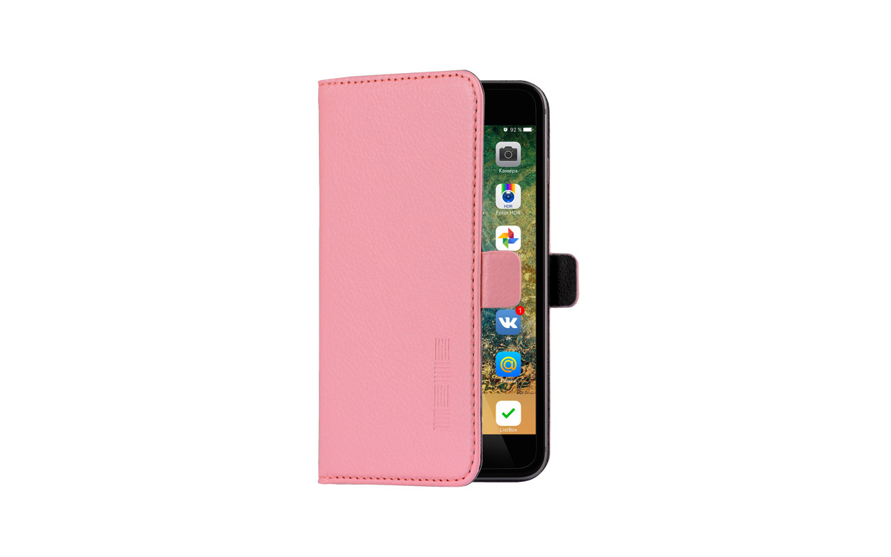 Универсальный Чехол Книжка Для Смартфона с Экраном от 4 до 4,7 дюймов Розовый, InterStep NEXT