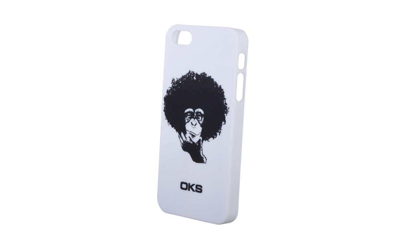 Клипкейс KLIP МАРТЫШКА Apple iPhone5 пласт.white