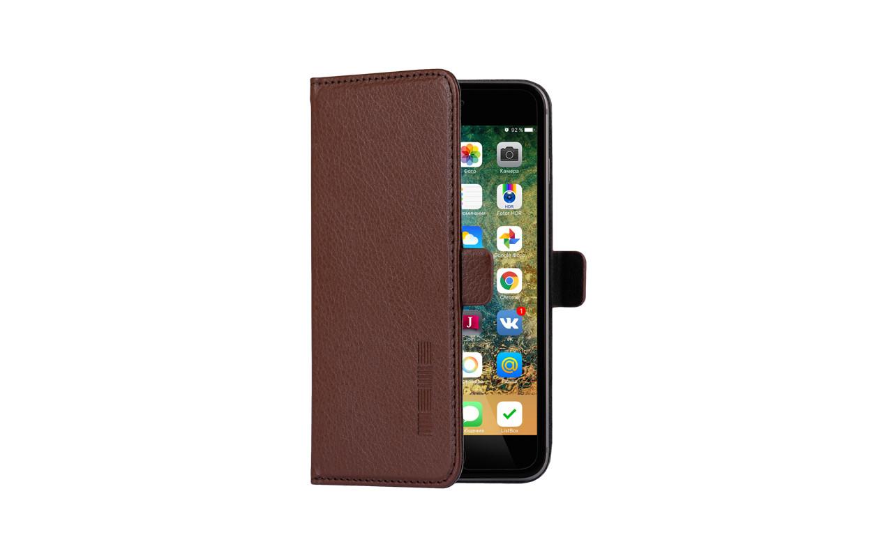 Универсальный Чехол Книжка Для Смартфона с Экраном от 4,7 до 5 дюймов Коричневый, InterStep NEXT