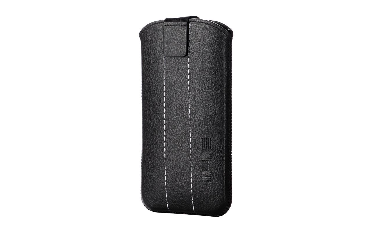 Чехол сумка Для телефона, Кожаный, Черный, InterStep IS PEEP Р-97