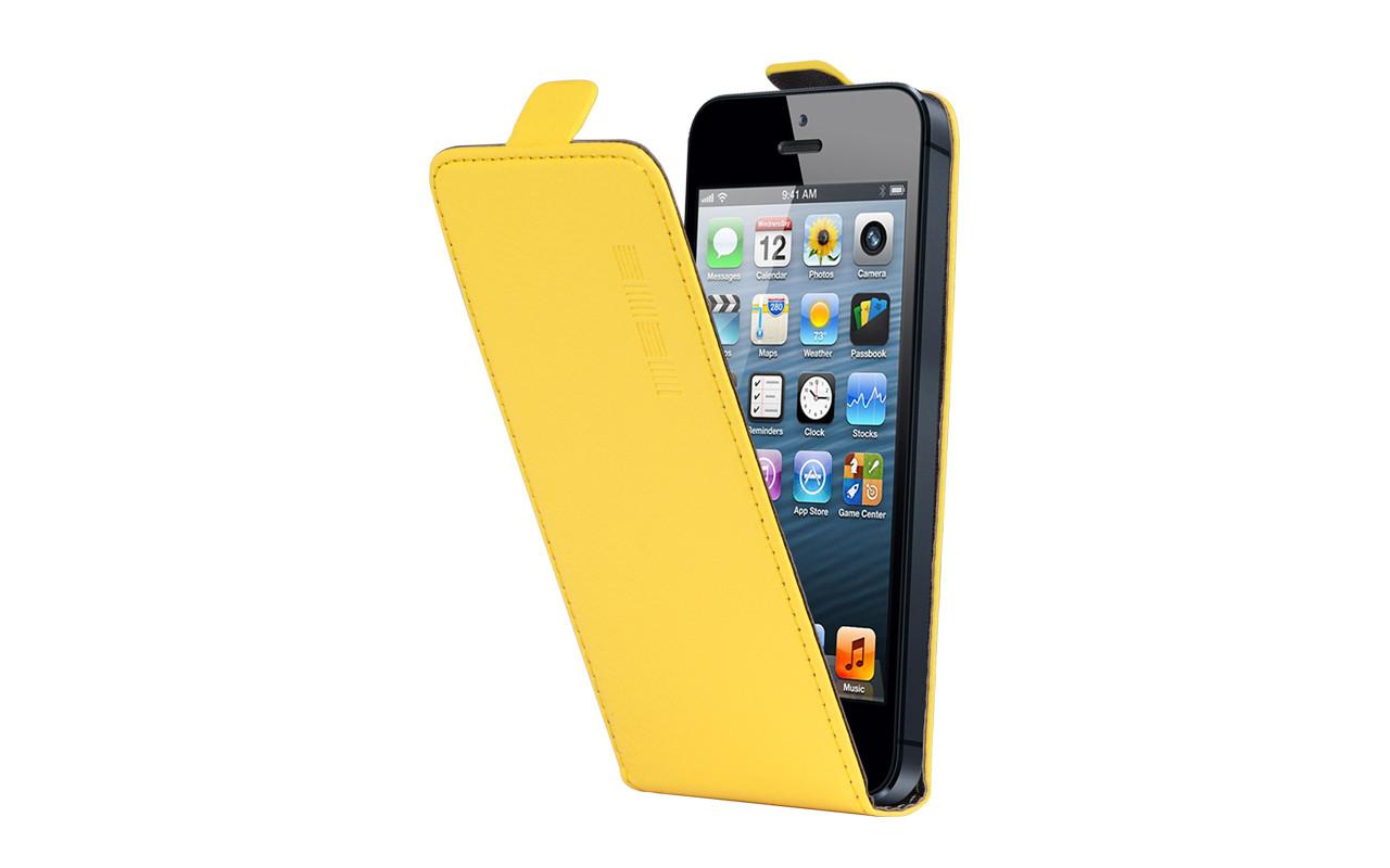 Универсальный Чехол Флип Кейс, Для Смартфона с Экраном от 4,7 до 5 дюймов Желтый, InterStep NEXT