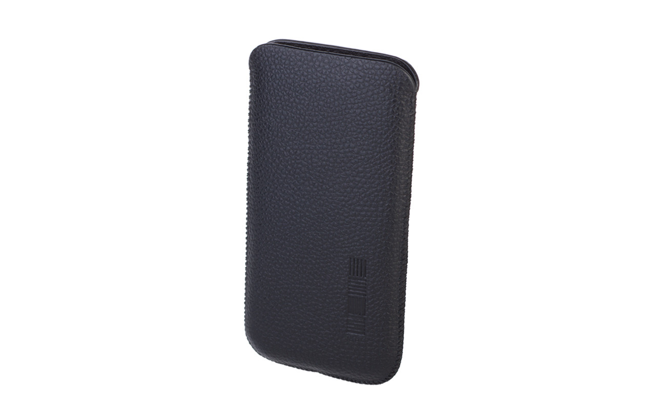 Чехол карман Для телефона, Кожаный, Черный, InterStep LION Р-97