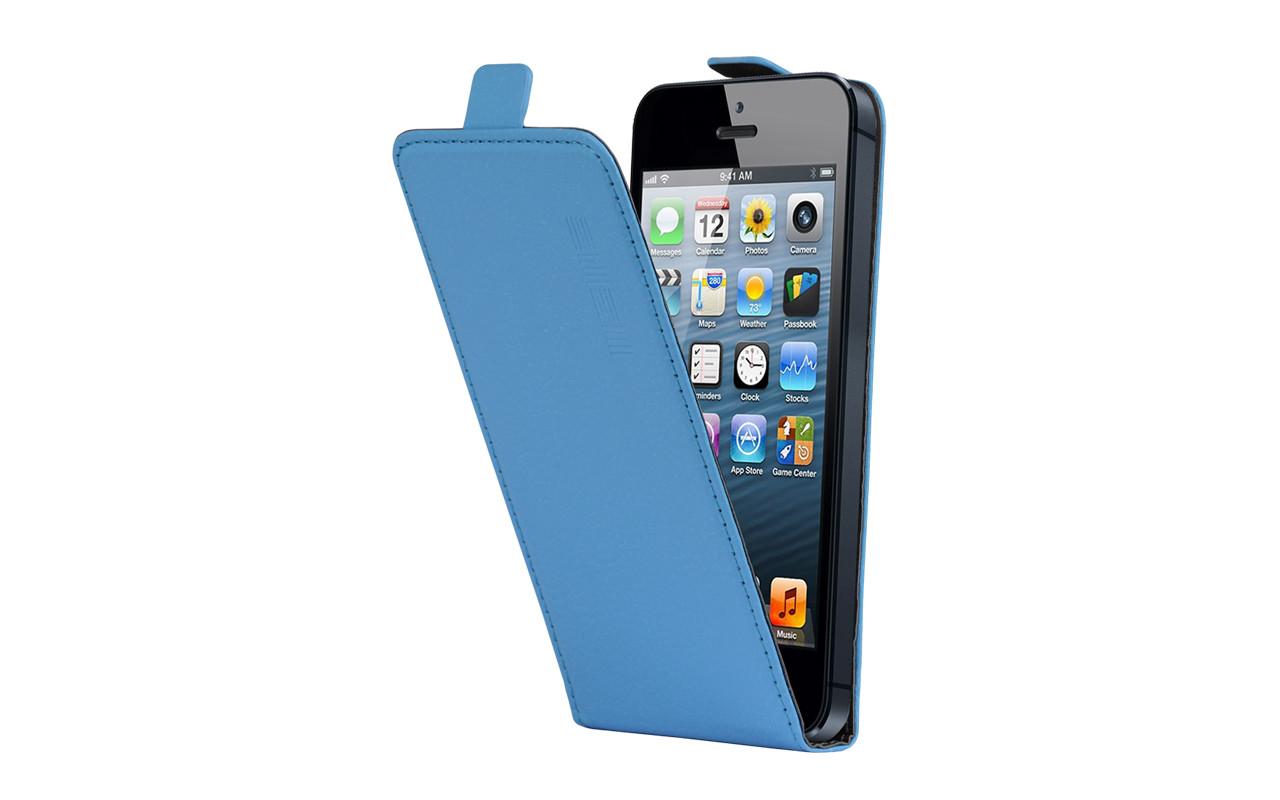 Универсальный Чехол Флип Кейс, Для Смартфона с Экраном от 4,7 до 5 дюймов Голубой, InterStep NEXT