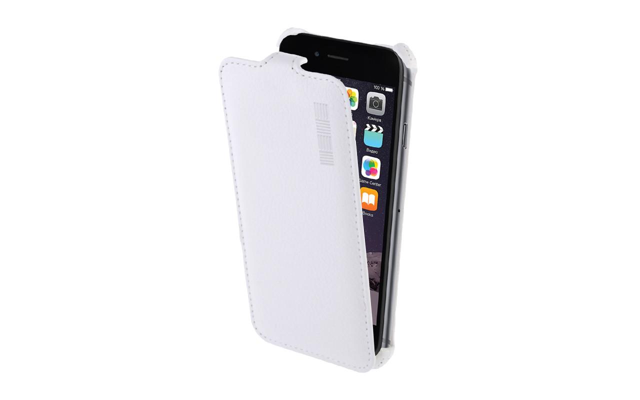 Чехол Флип Кейс Для Apple Iphone 5, 5S, Белый, Кожаный, InterStep CRAB InterStep