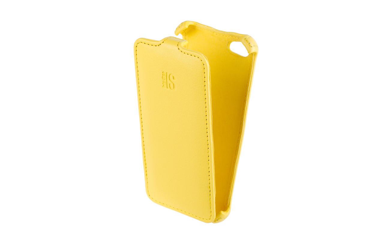Чехол Флип Кейс Для Apple Iphone 5C, Желтый InterStep CRAB