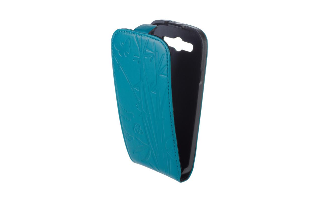 Чехол Флип Кейс Для Samsung Galaxy S3, Кожаный, Темно - Бирюзовый, InterStep SLIM