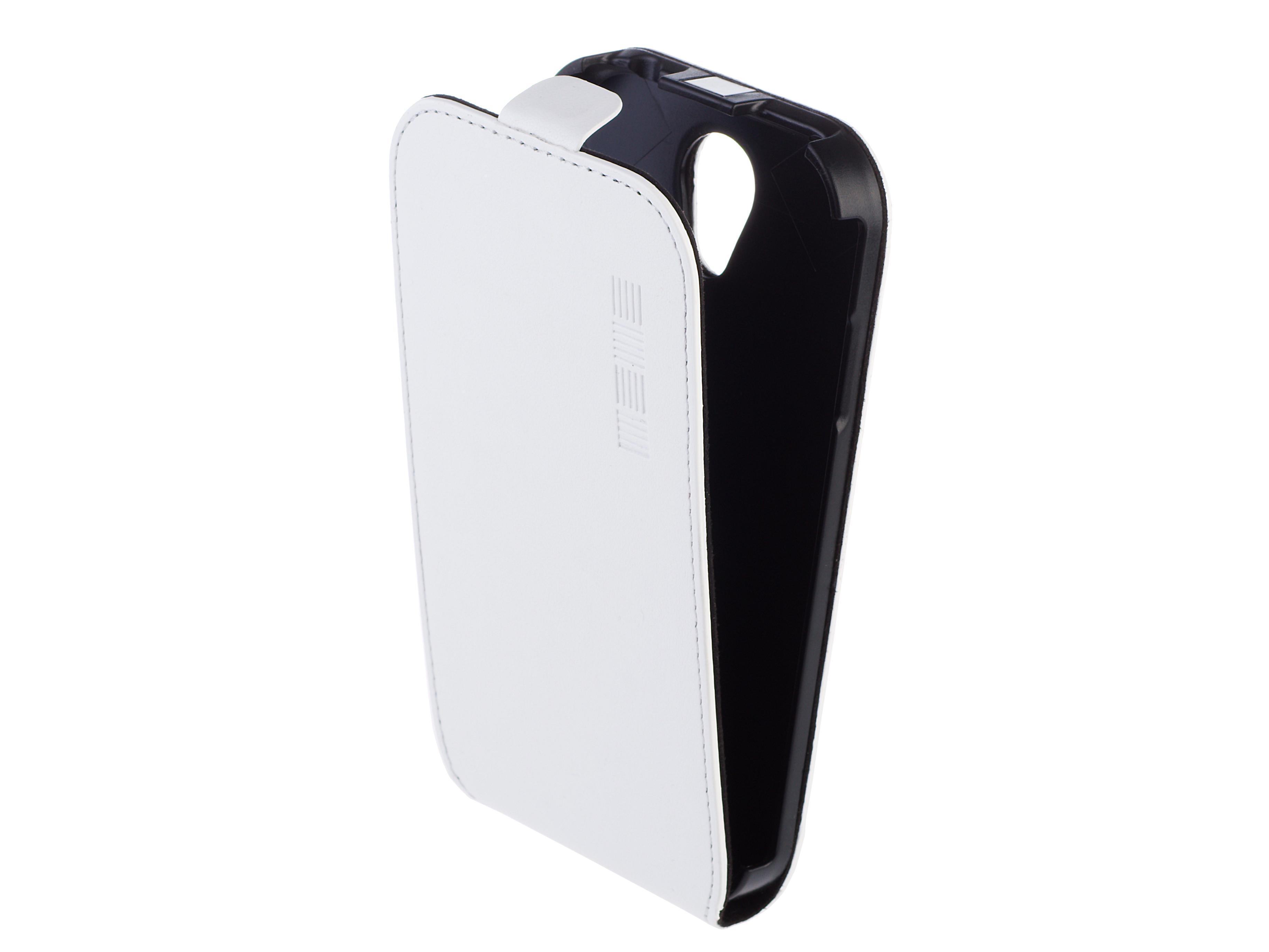 Чехол Флип Кейс Для Apple iPhone 5, Кожаный, Белый, InterStep SLIM