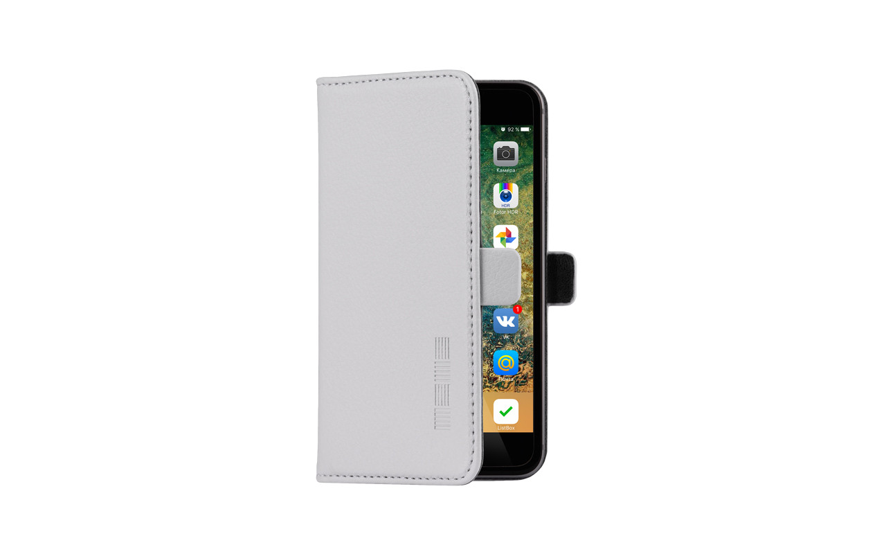 Универсальный Чехол Книжка Для Смартфона с Экраном от 4,7 до 5 дюймов Серый, InterStep NEXT