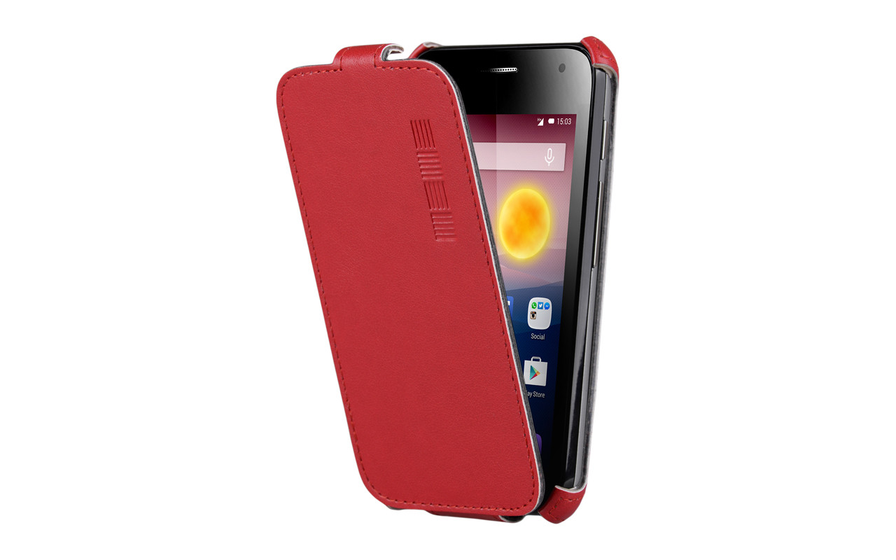 Чехол Флип Кейс Для Samsung Galaxy Core 2, Красный InterStep CRAB