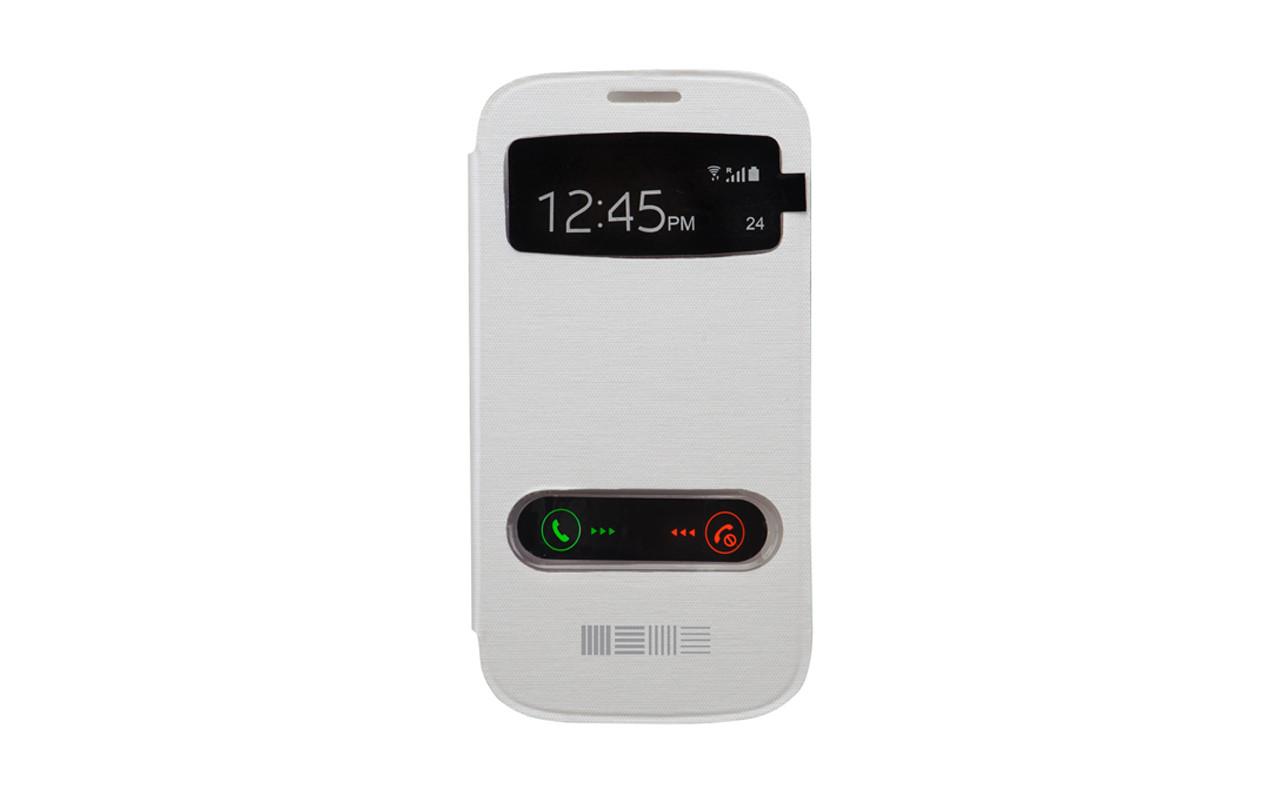 Чехол Книжка Для Samsung Galaxy S4, Пластиковый, Белый, InterStep
