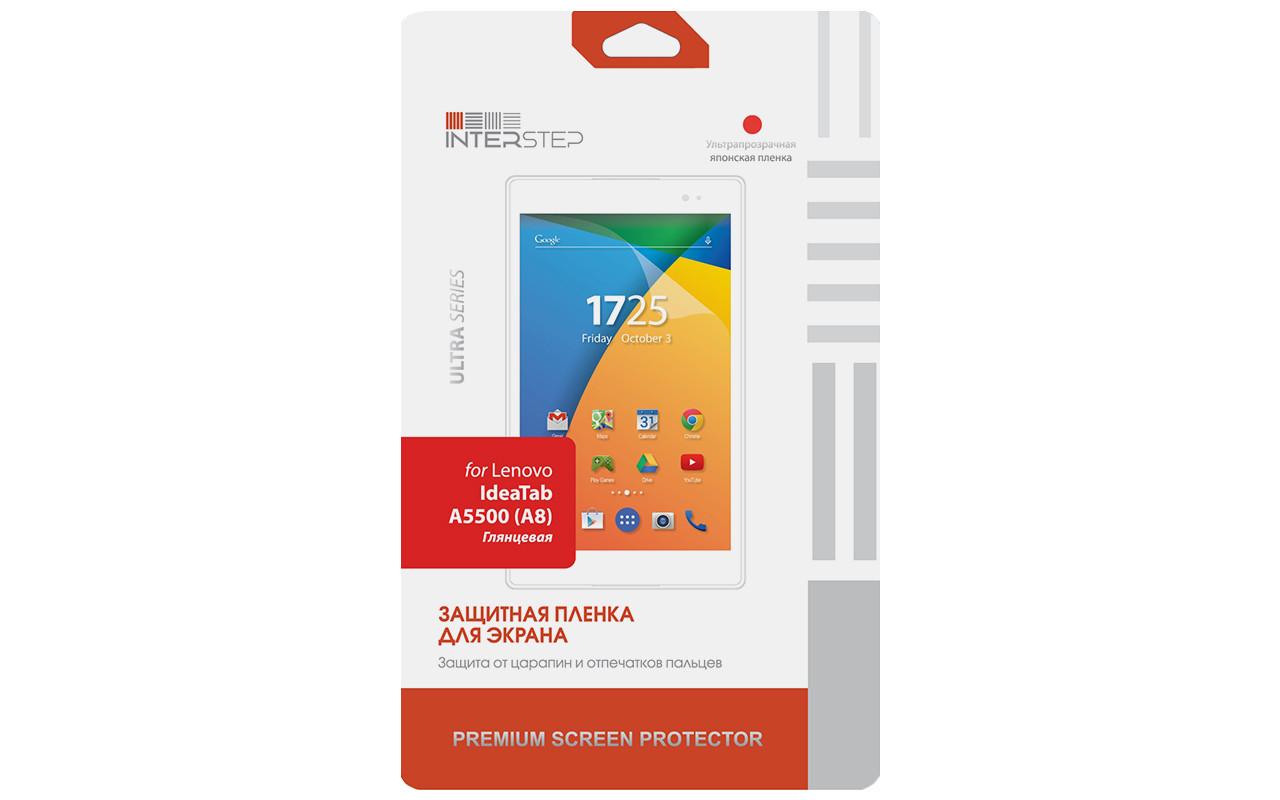 Защитная Пленка Interstep Серии Ultra Для Lenovo Ideatab A5500 (A8) (Ультрапрозрачная) InterStep