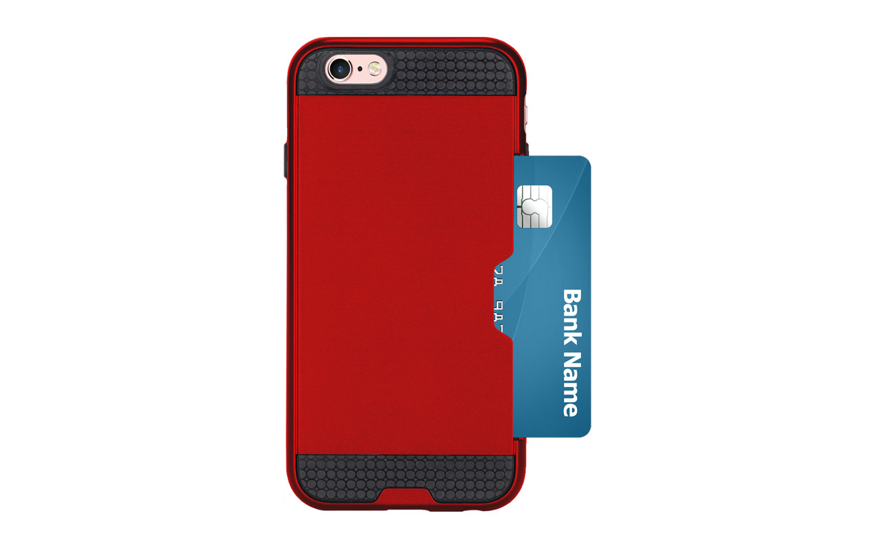 Чехол Накладка Для Телефона - Apple iPhone 7, interstep SHOCK-CASE красный