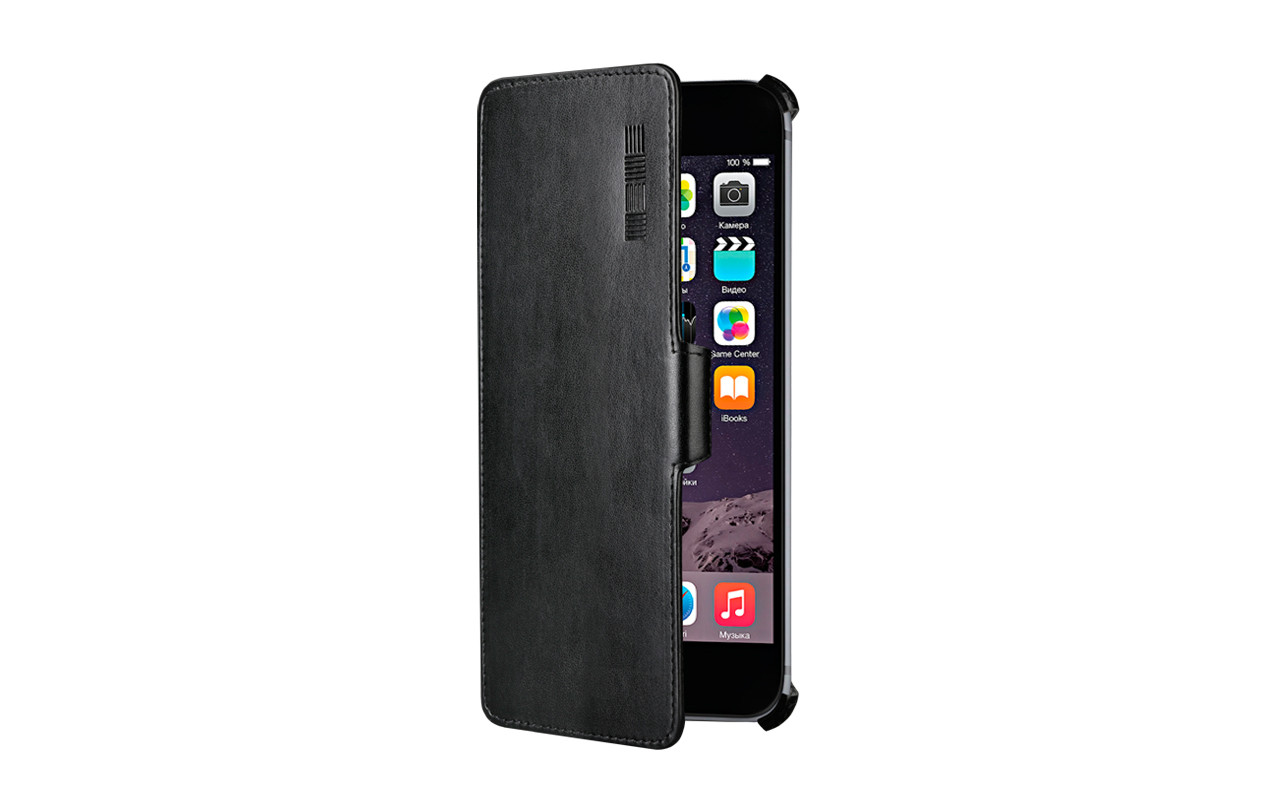 Чехол Книжка Для Телефона - Apple iPhone 6, черный, interstep CRAB