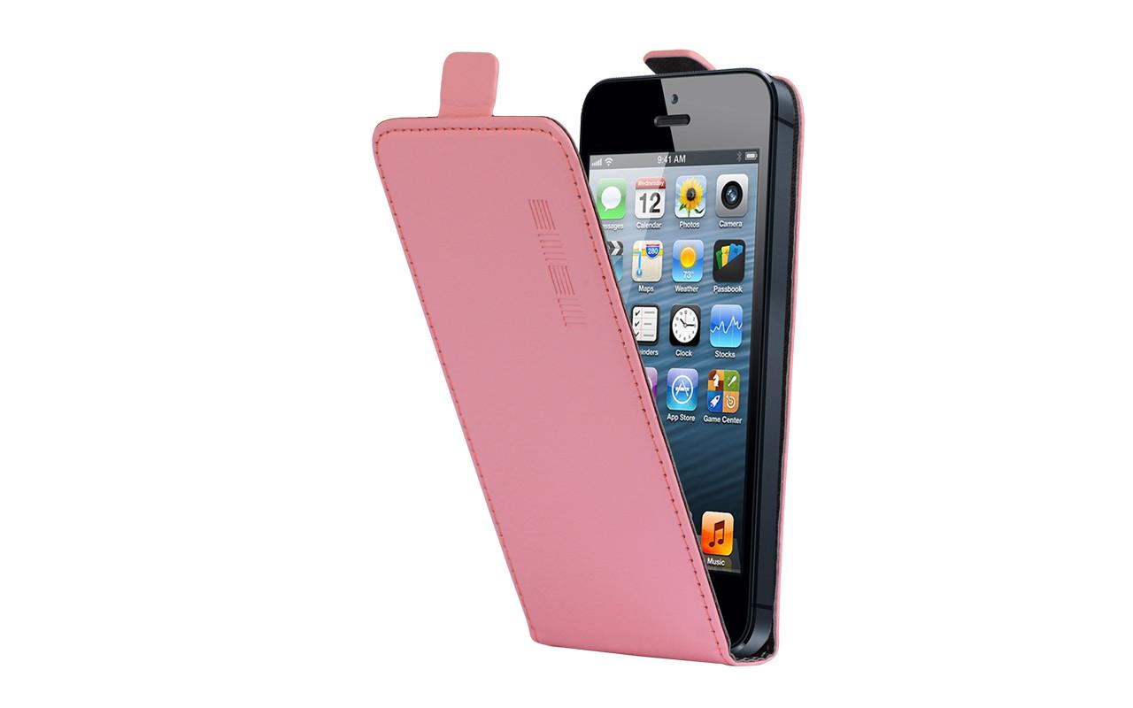 Универсальный Чехол Флип Кейс, Для Смартфона с Экраном от 4,7 до 5 дюймов Розовый, InterStep NEXT