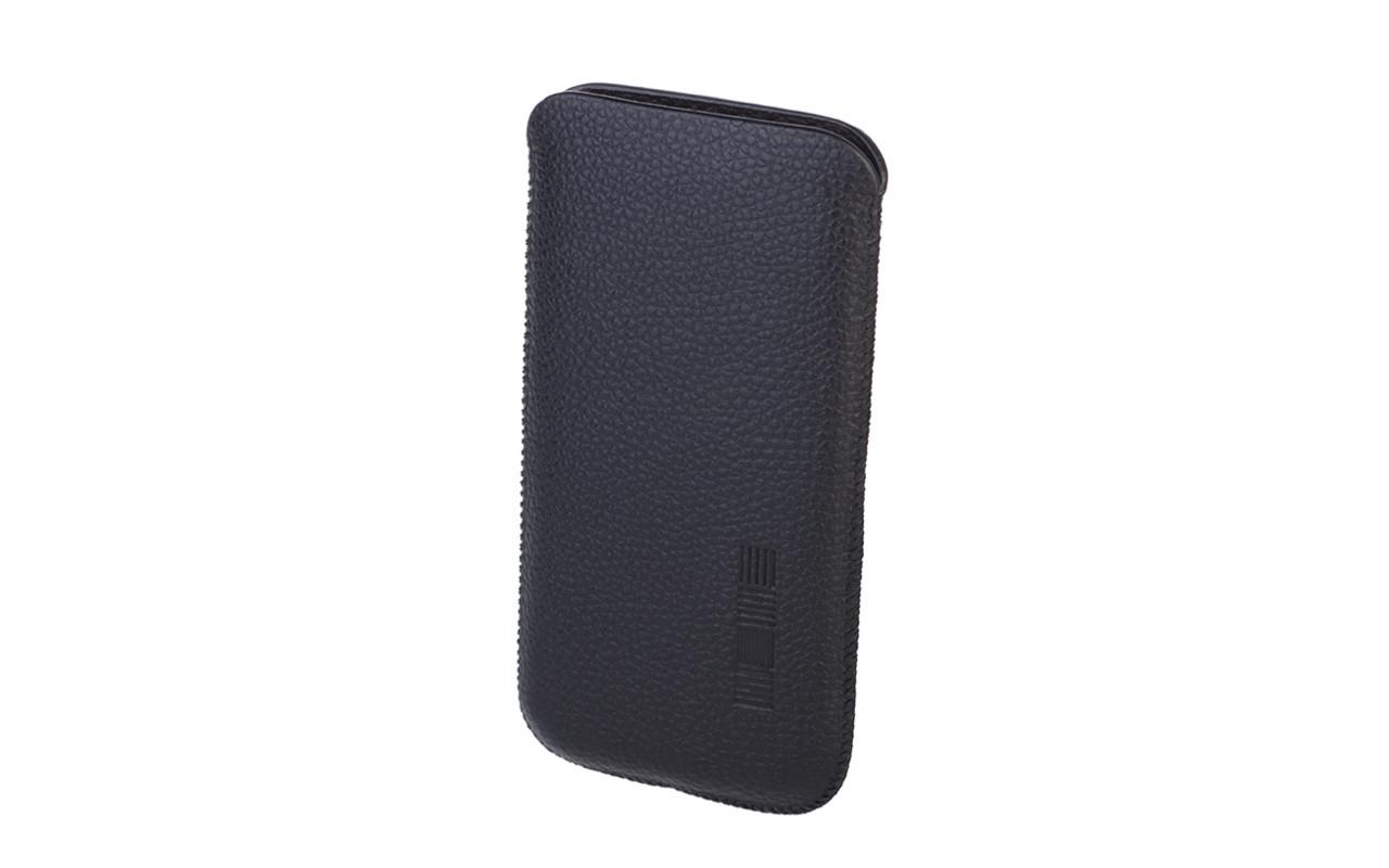 Чехол карман Для телефона, Кожаный, Черный, InterStep LION Р-90