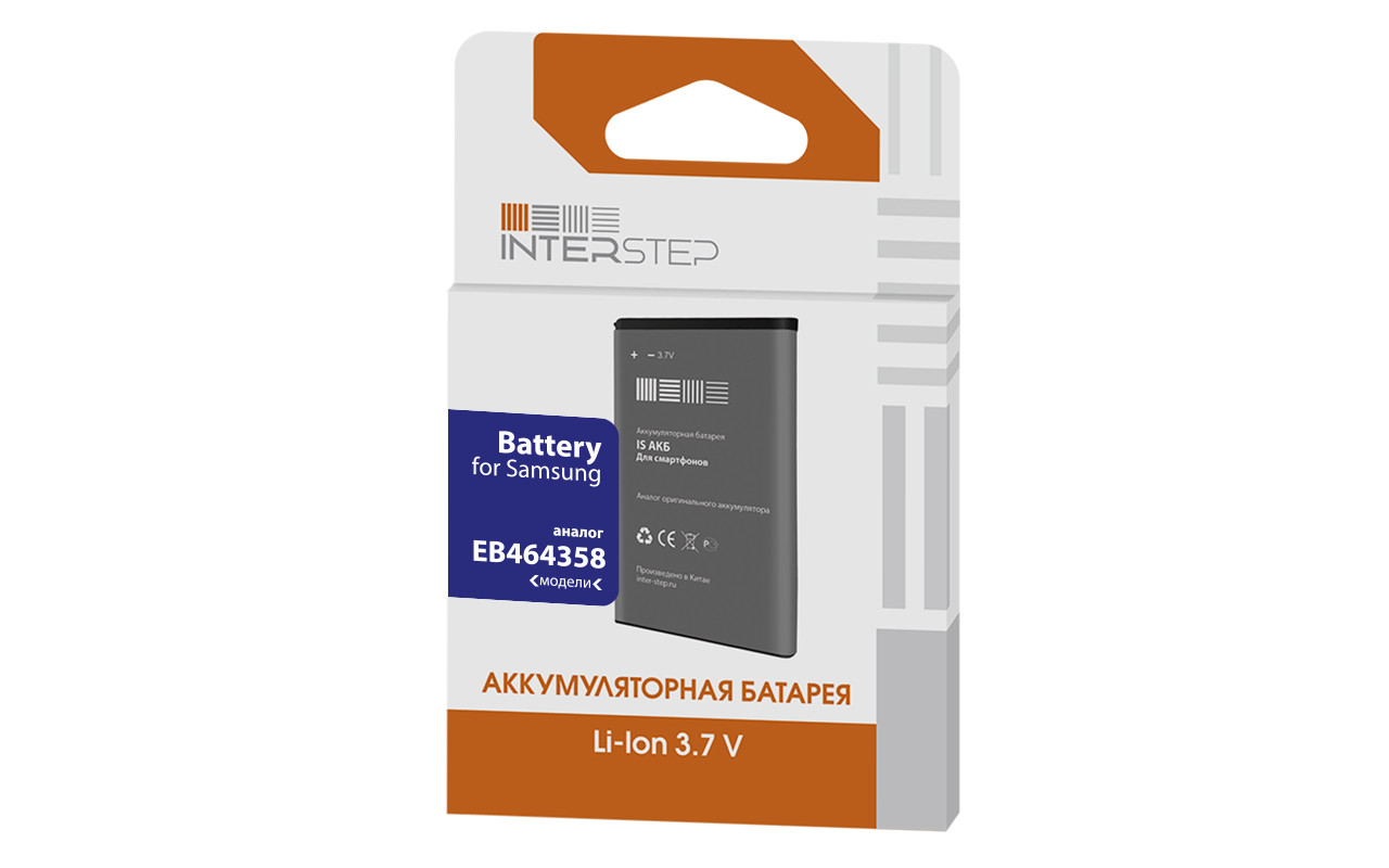 Аккумулятор Interstep Для Samsung 6102 / 7500 / 6802 / 6500 1450 Mah Li-Ion InterStep