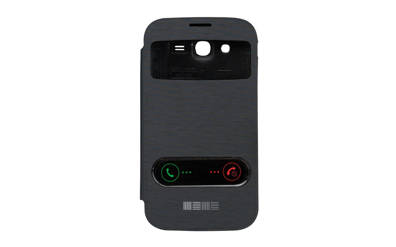 Чехол Книжка Для Samsung Galaxy Note 2, Пластиковый, Черный, InterStep