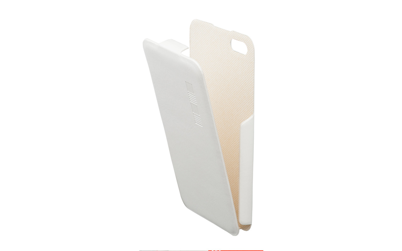 Чехол Флип Кейс Для Apple iPhone 5, 5S Белый, InterStep SLIM