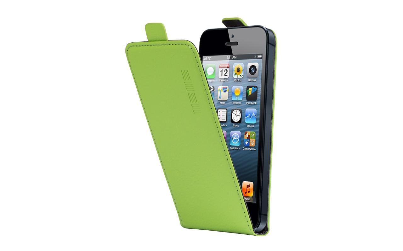 Универсальный Чехол Флип Кейс, Для Смартфона с Экраном от 5,2 до 5,5 дюймов Зеленый, InterStep NEXT InterStep