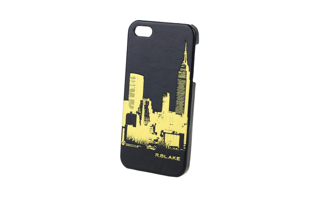 Клип Кейс - Чехол накладка Для Apple iPhone 5 Черный Город, InterStep