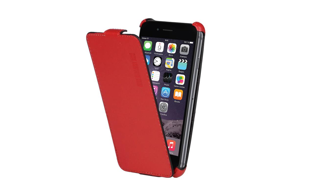 Чехол Флип Кейс Для Microsoft Lumia 540, Красный, Кожаный, InterStep CRAB