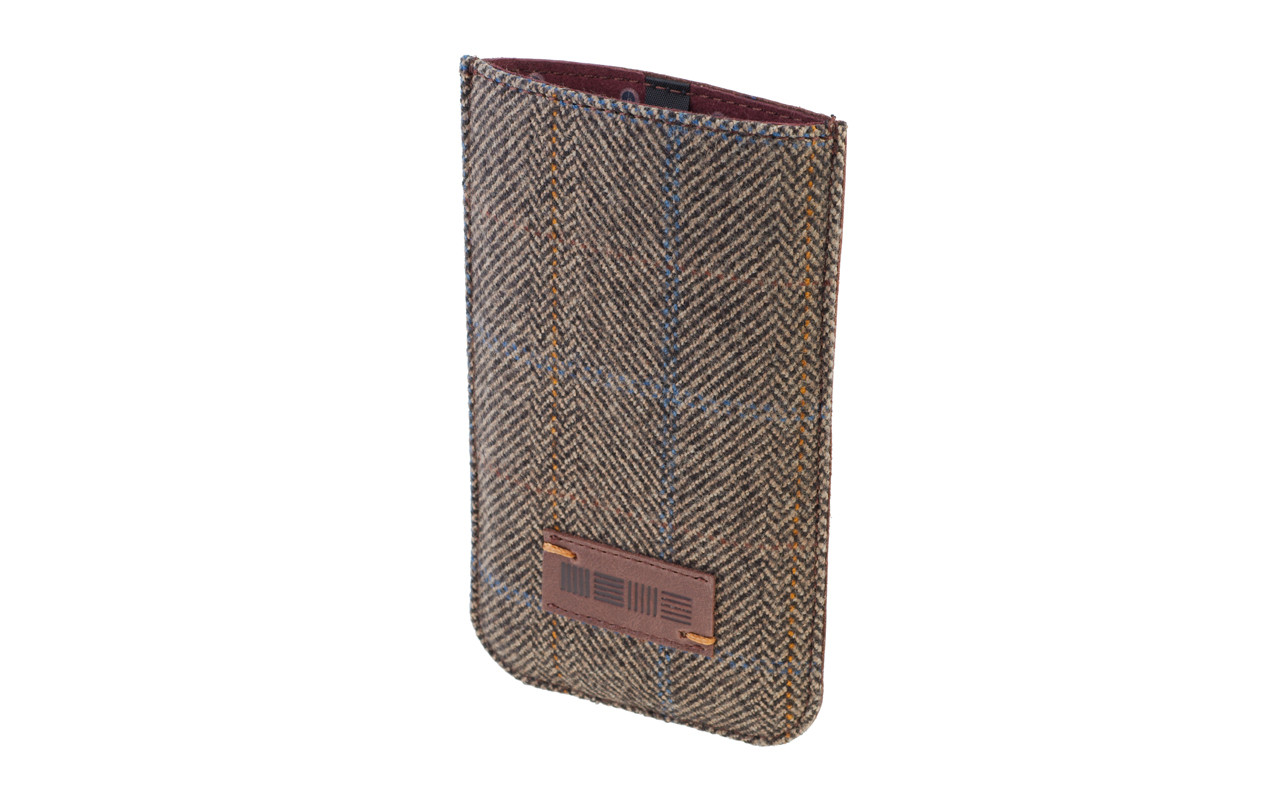 Чехол Карман Для телефона, Кожаный, серый, InterStep DOVER Р-97