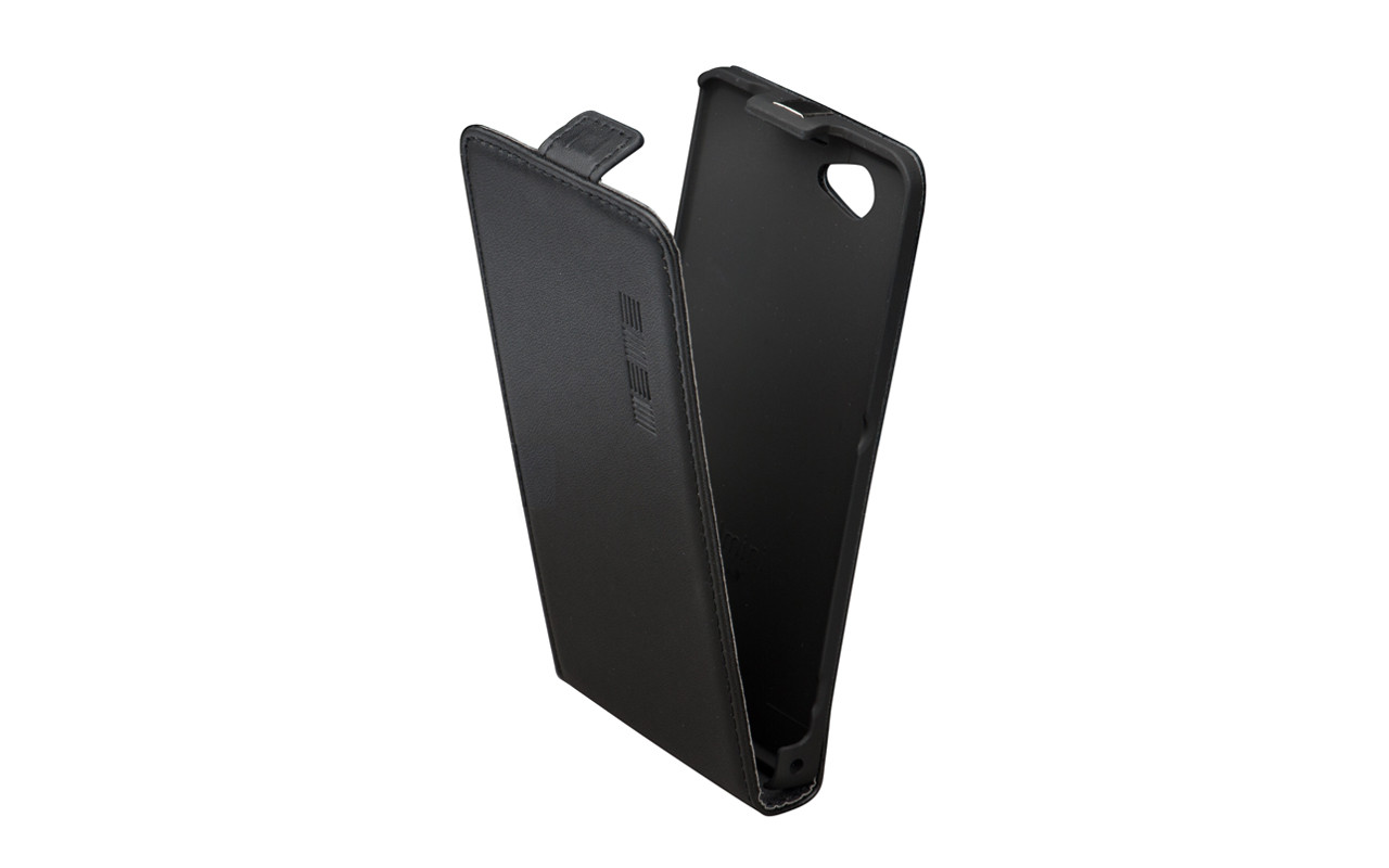 Чехол Флип Кейс Для Samsung Galaxy Note 2, Кожаный, Черный, InterStep SLIM