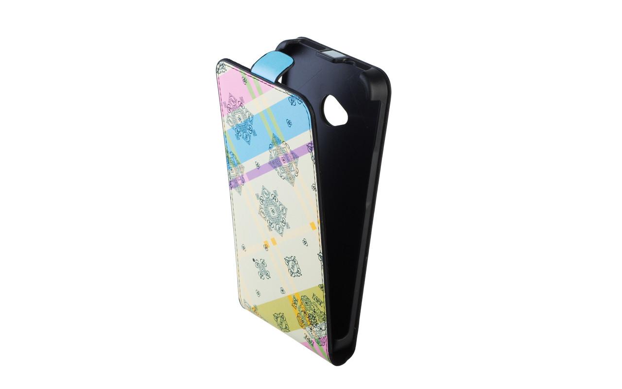 Чехол Флип Кейс Для Samsung Galaxy S4, Кожаный, Белый, Геометрия, InterStep SLIM