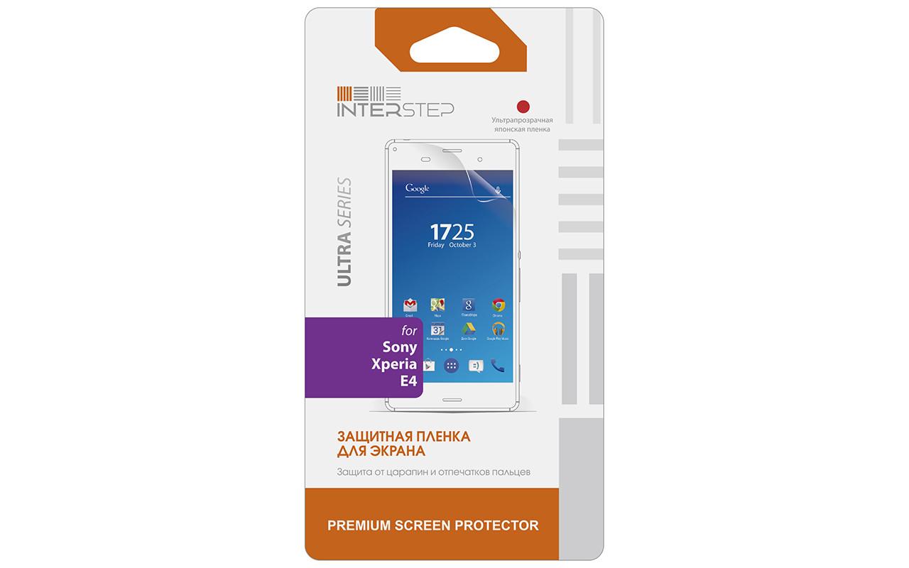 Защитная Пленка Interstep Серии Ultra Для Sony Xperia E4 (E4 Dual) (Ультрапрозрачная) InterStep