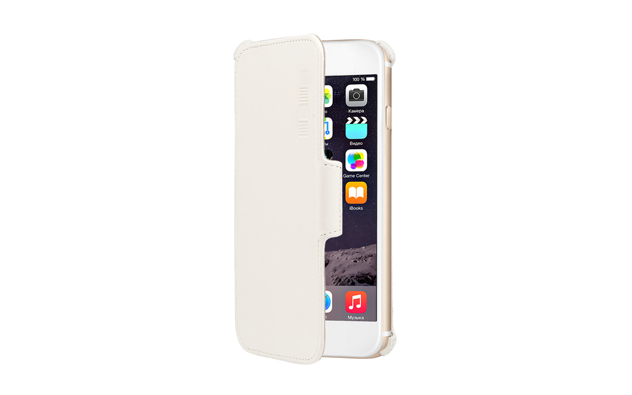 Чехол Книжка Для Apple Iphone 6, 6S Plus, Белый InterStep CRAB