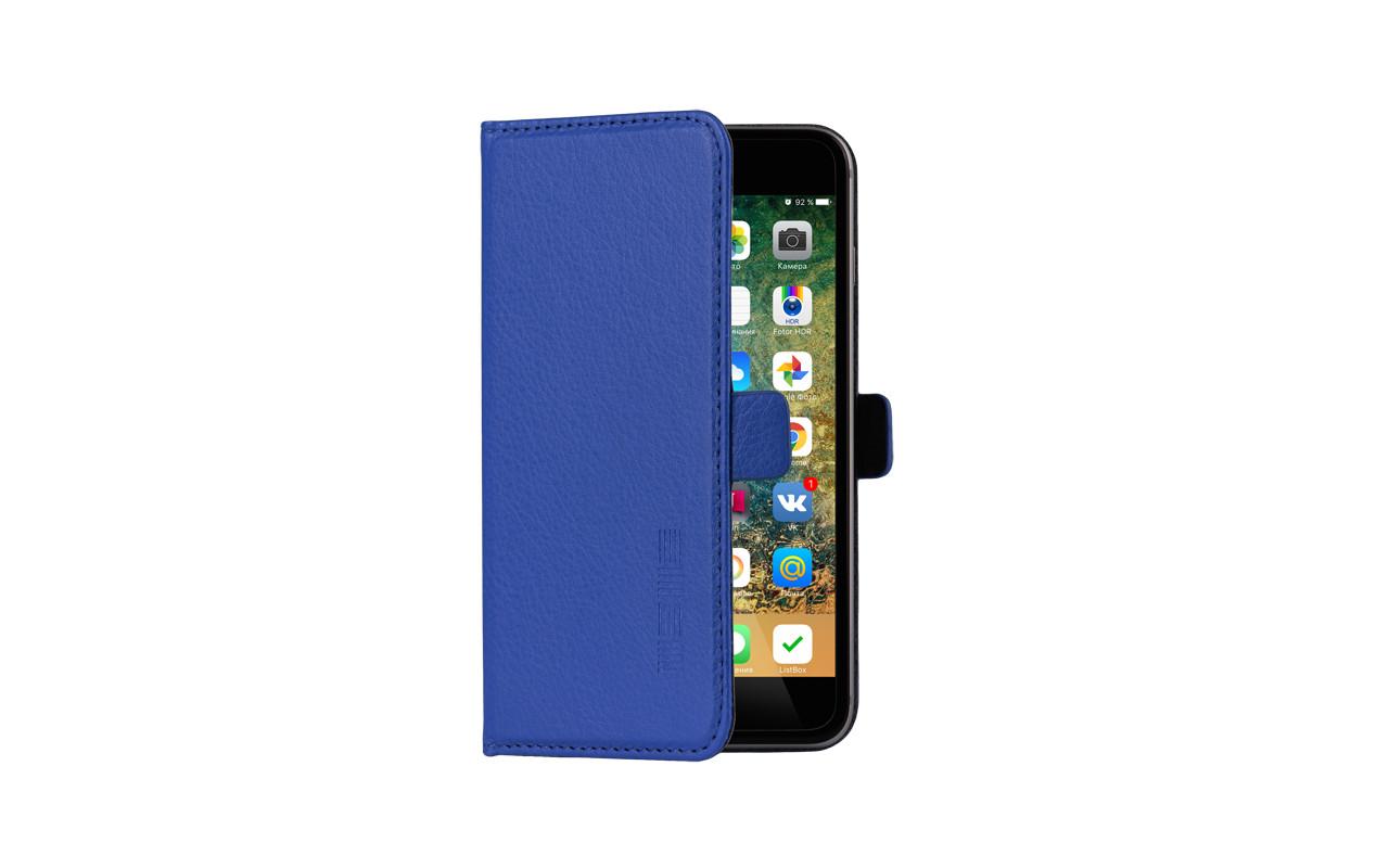 Универсальный Чехол Книжка Для Смартфона с Экраном от 4 до 4,7 дюймов Синий, InterStep NEXT