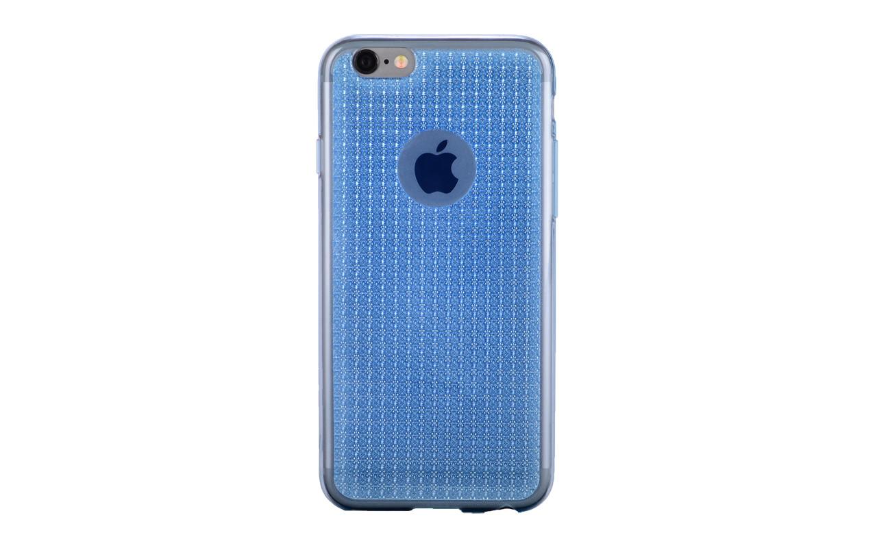 Чехол Накладка Для Телефона - Apple iPhone 6, interstep CRYSTAL голубой