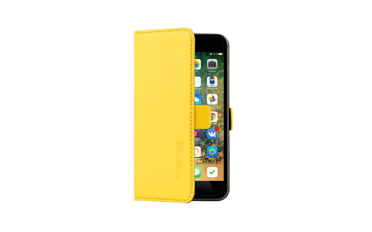 Универсальный Чехол Книжка Для Смартфона с Экраном от 4,7 до 5 дюймов Желтый, InterStep NEXT