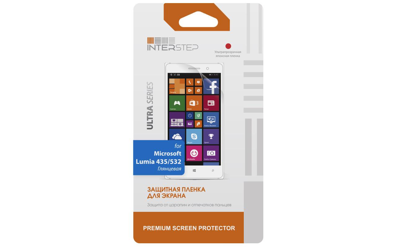Защитная Пленка Interstep Серии Ultra Для Microsoft Lumia 435 / 532 (Ультрапрозрачная) InterStep