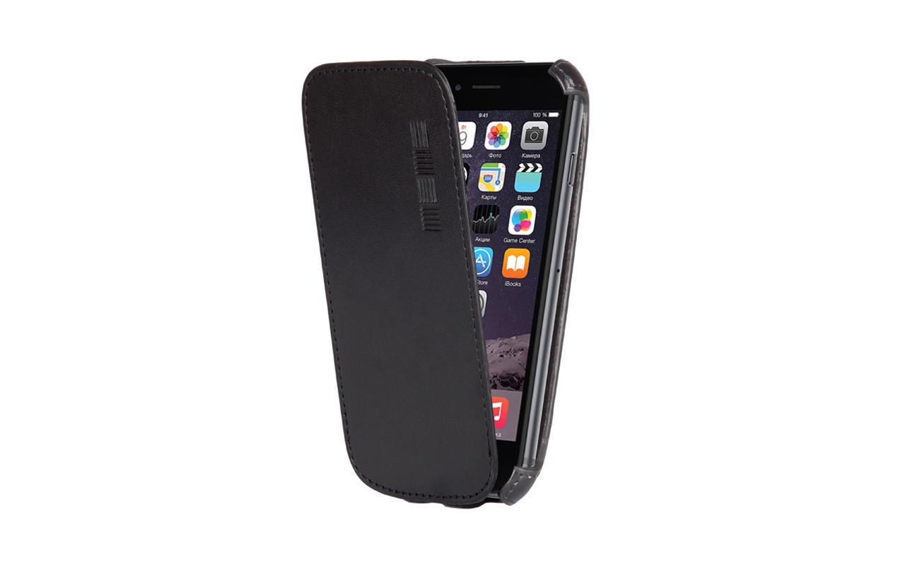 Чехол Флип Кейс Для Sony Xperia E4, Черный, Кожаный, InterStep CRAB