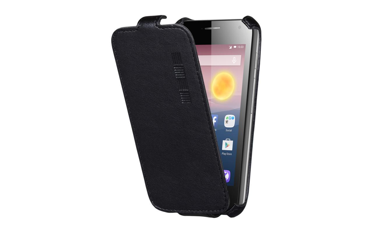 Чехол Флип-Кейс Для Телефона - Highscreen Boost 3, interstep CRAB черный InterStep