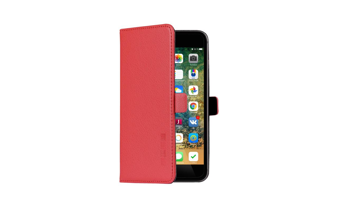 Универсальный Чехол Книжка Для Смартфона с Экраном от 5 до 5,2 дюймов Красный, InterStep NEXT