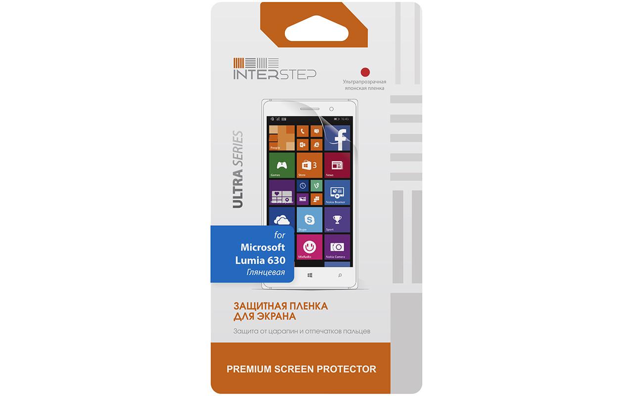 Защитная Пленка Interstep Серии Ultra Для Nokia Lumia 630 (Ультрапрозрачная) InterStep