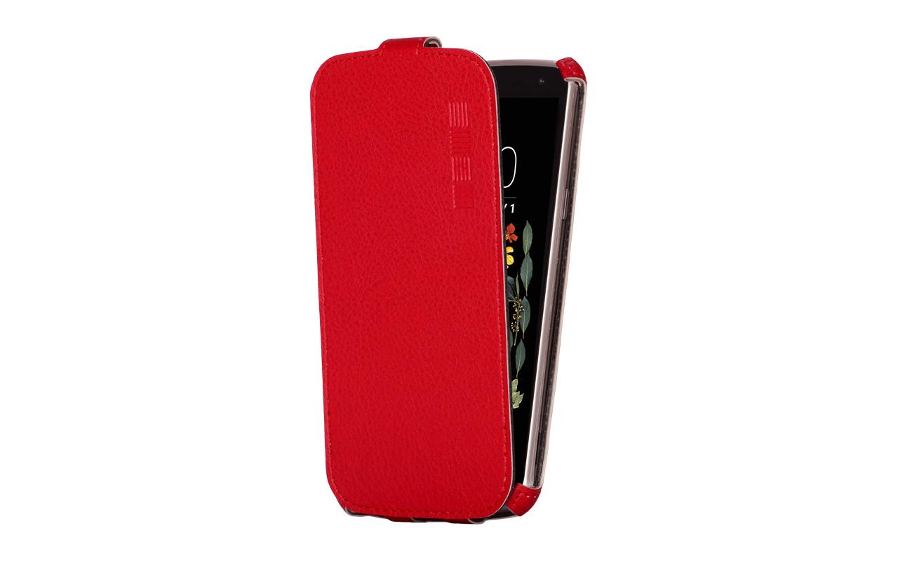Флип-кейс IS CRAB Microsoft Lumia 550, и/к, красный
