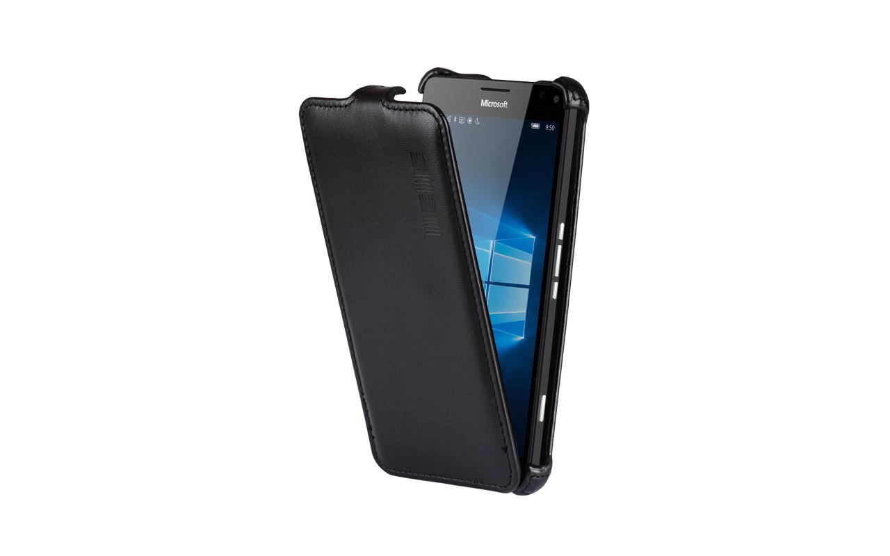 Чехол Флип Кейс Для Microsoft Lumia 950, Черный InterStep CRAB